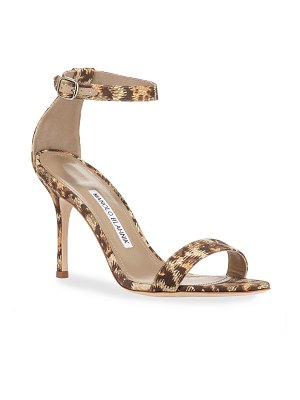 Manolo Blahnik Chaos Printed Fabric Sandals
