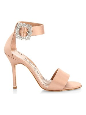Manolo Blahnik embellished ankle-strap satin sandals