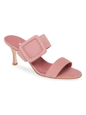 Manolo Blahnik gable buckle slide sandal