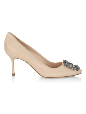 Manolo Blahnik hangisi 70 embellished leather pumps