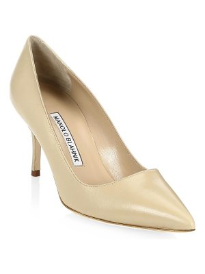 Manolo Blahnik bb 70 leather point toe pumps