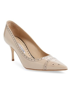 Manolo Blahnik quitohi brogue pointed toe pump