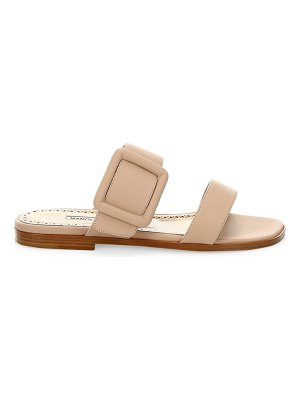 Manolo Blahnik tituba leather flat sandals