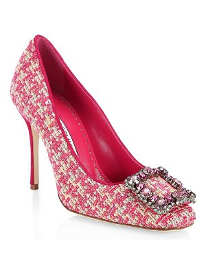 Manolo Blahnik vazza 105 tweed pumps