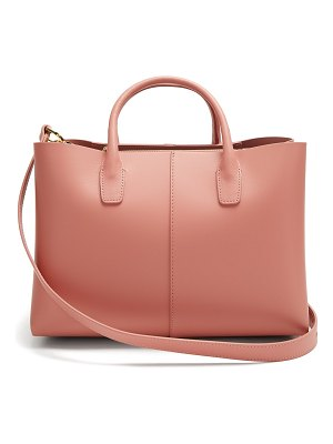 Mansur Gavriel Blush-pink lined folded leather bag
