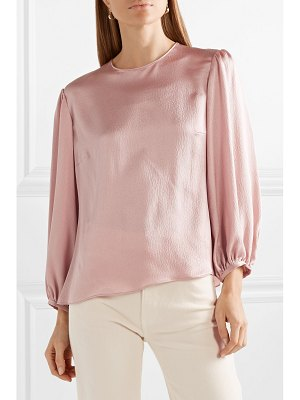 Mansur Gavriel hammered silk-satin blouse