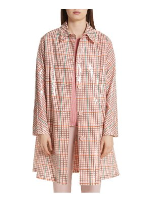 Mansur Gavriel laminated check coat