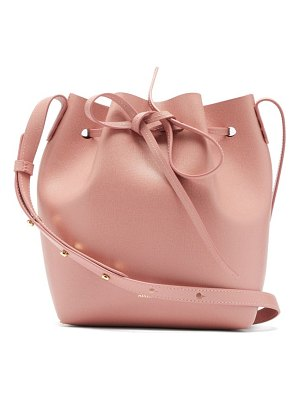 Mansur Gavriel mini saffiano-leather bucket bag