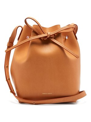 Mansur Gavriel pink lined mini leather bucket bag