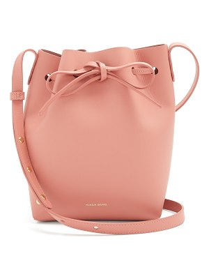 Mansur Gavriel Pink-lined mini leather bucket bag