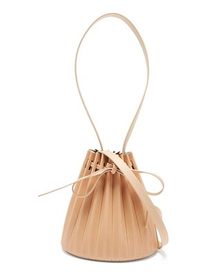 Mansur Gavriel pleated mini leather bucket bag