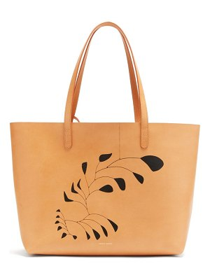 Mansur Gavriel x calder large leather tote bag