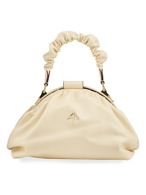 Manu Atelier Demi XX Ruched Top Handle Bag