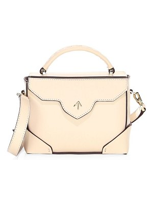 Manu Atelier micro-bold leather top handle bag