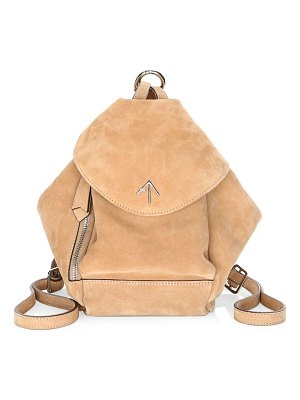 Manu Atelier mini fernweh suede backpack