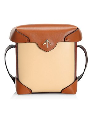 Manu Atelier mini pristine two-tone leather box bag
