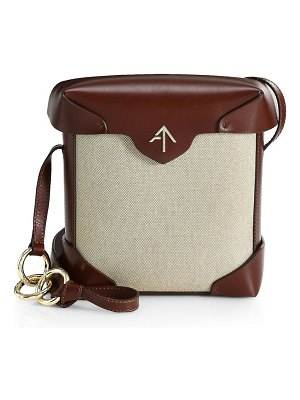 Manu Atelier pristine two-tone cotton & leather shoulder bag