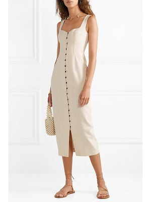 Mara Hoffman net sustain angelica cotton-canvas midi dress