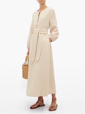 Mara Hoffman june belted waist cotton blend dress