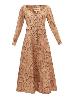 Mara Hoffman silvana snake-print tencel-blend shirt dress