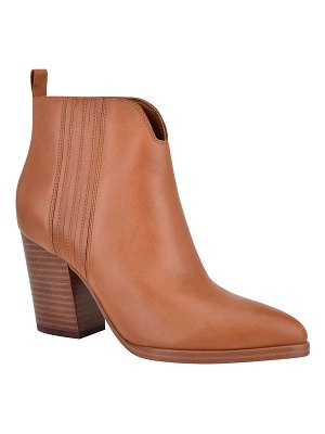 MARC FISHER LTD Annabel Leather Ankle Booties
