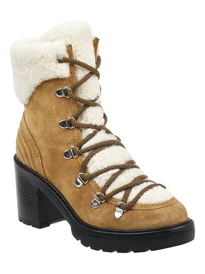 MARC FISHER LTD daven genuine shearling lace up boot
