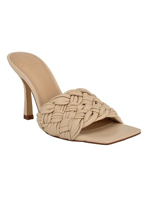 MARC FISHER LTD Draya Woven Stiletto Slide Sandals