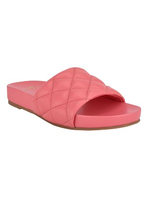 MARC FISHER LTD Imenal Quilted Slide Sandals