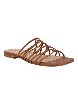 MARC FISHER LTD Marcio Flat Strappy Slide Sandals
