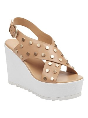 MARC FISHER LTD miki studded slingback wedge sandal