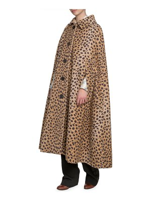 Marc Jacobs Animal-Print Cape Coat