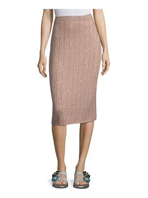 MARC JACOBS Glittery Ribbed Pencil Skirt
