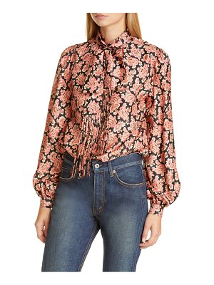 Marc Jacobs paisley print silk blouse with removable tie