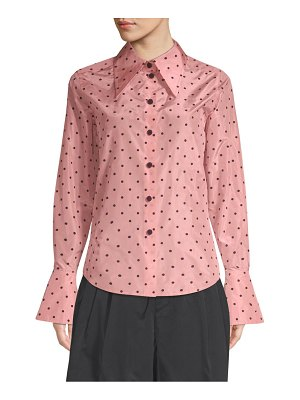 Marc Jacobs polka dot button-down silk blouse