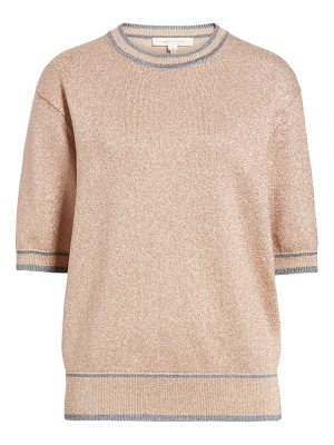 MARC JACOBS Rib Trim Metallic Sweater