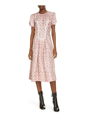 Marc Jacobs the '40s trompe l'oeil print silk midi dress