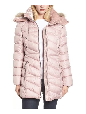 Marc New York faux fur trim puffer jacket