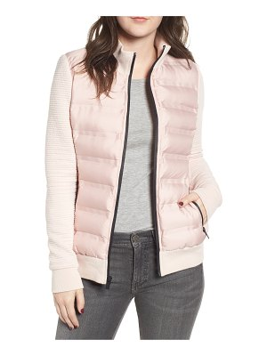 Marc New York puffer jacket with knit sleeves