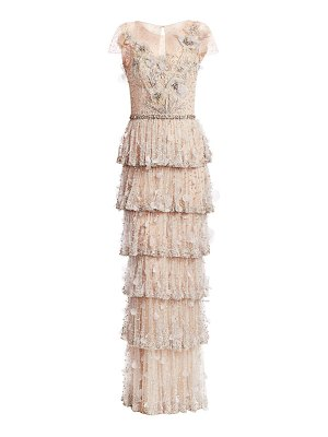 Marchesa embellished tulle tiered gown