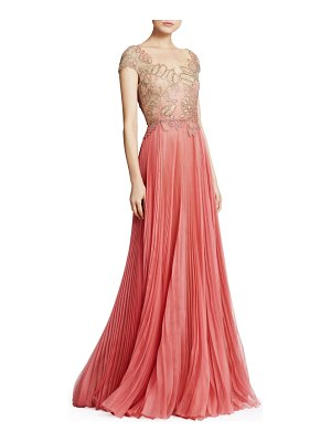Marchesa Embroidered Organza & Tulle Illusion Gown