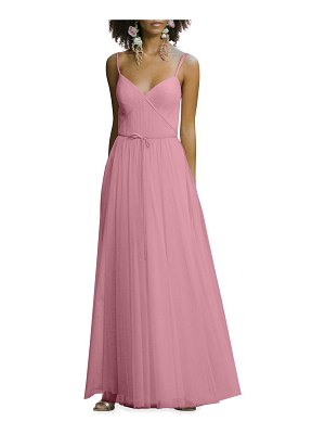 Marchesa Notte Bridesmaid Sweetheart Ruched Double-Strap Cami Gown