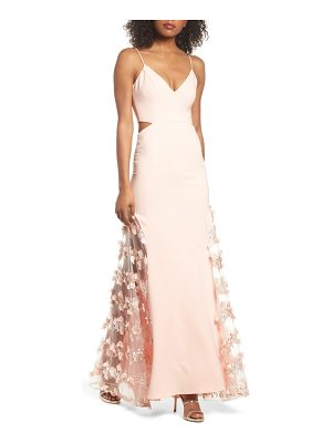 MARIA BIANCA NERO Alex Sheer Panel A-Line Gown