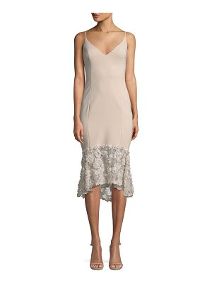 MARIA BIANCA NERO Milly Sleeveless Tea-Length Dress W/ Lace Bottom