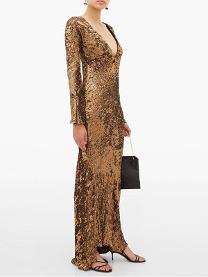 Maria Lucia Hohan ailish plunge-neckline sequinned maxi dress