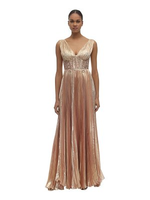 Maria Lucia Hohan Aziza lurex chiffon long dress