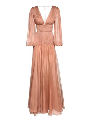 Maria Lucia Hohan Dania metallic silk long dress