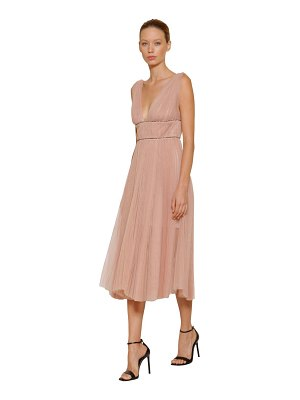 Maria Lucia Hohan Embellished & pleated tulle midi dress