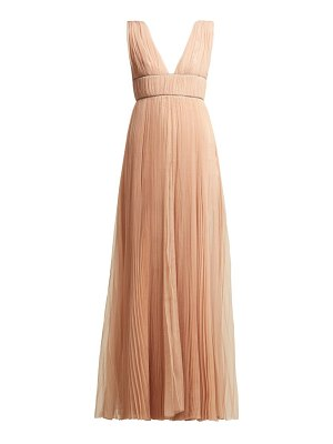 Maria Lucia Hohan Kylie Crystal Embellished Pleated Tulle Dress