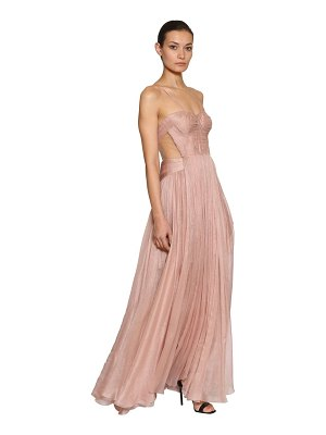 Maria Lucia Hohan Metallic silk mousseline gown dress