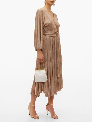 Maria Lucia Hohan millie metallic mesh wrap dress